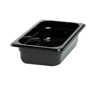 "Cambro - 1/4 Size x 2"""" Deep Food Pan (Blk) 