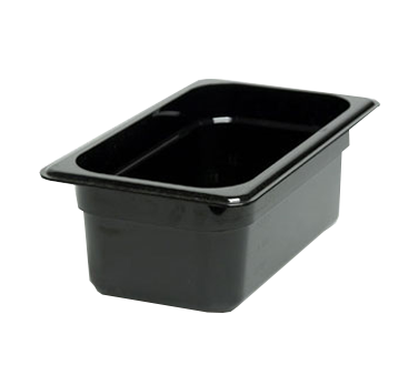 "Cambro - 1/4 Size x 4"""" Deep Food Pan (BLK) 