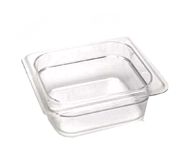 "Cambro - 1/6 Size x 2.5"""" Deep Food Pan (CLR) 