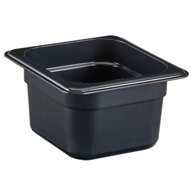 "Cambro - 1/6 Size x 4"""" Deep High-Heat Food Pan(BLK) 
