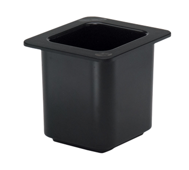 "Cambro - 1/6 Size x 6"""" Deep ColdFest Food Pan (Black) 