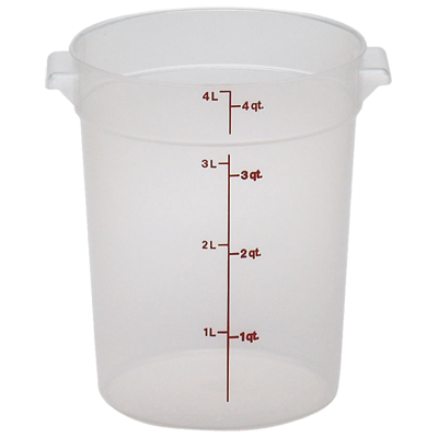 Cambro - 4 Qt Round Food Storage Container | Public Kitchen Supply