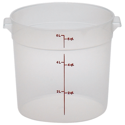Cambro - 6 Qt Round Storage Container (Clear) | Public Kitchen Supply