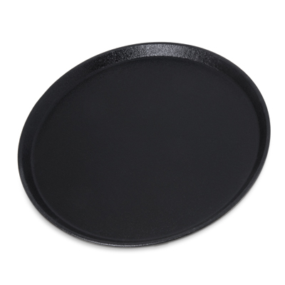 "Carlisle- Griptite™ 2 Serving Tray, 11"" dia. Black (1100GR2004)"