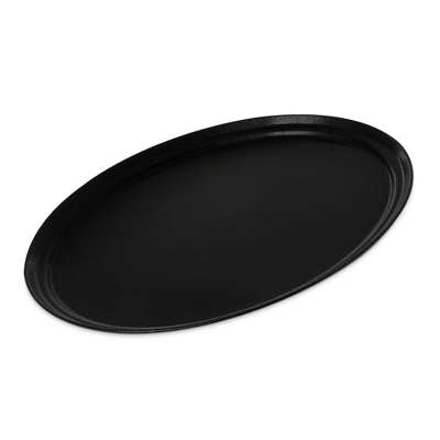 "Carlisle- Griptite™ 2 Serving Tray, 27""L x 22""W, oval, black (2700GR2004)"