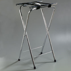 "Carlisle- Folding Tray Stand, 19""L x 16""W x 36""H, extra-tall, chrome finish (C3625T38)"