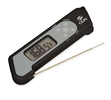 CDN - ProAccurate Black Folding Theruple Thermometer | Public Kitchen Supply