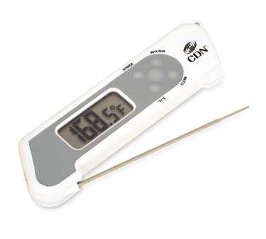 CDN - ProAccurate White Folding Theruple Thermometer | Public Kitchen Supply