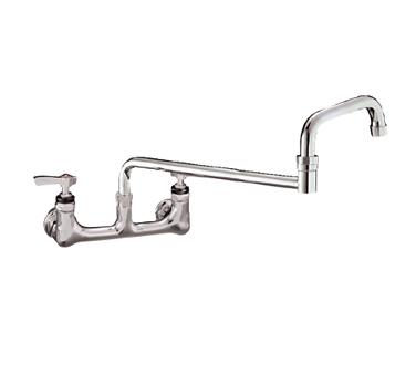 "Component Hardware- Encore® Faucet, wall mount, 8"" (203mm) OC inlets, 18"" (457mm) double jointed stainless steel horizontal tubular swing spout, (KL54-8018-SE1)"