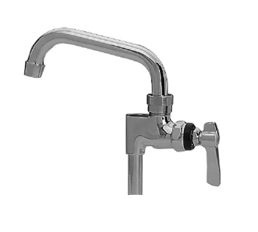 "Component Hardware- Add-on Faucet, Pre-rinse, 10"" (254mm) stainless steel swing spout, (KL55-7010-SE1)"