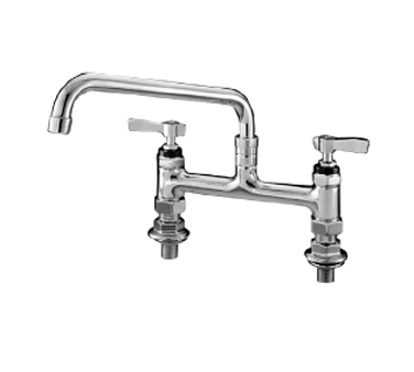 "Component Hardware- Encore® Faucet, elevated bridge deck mount, 8"" (203mm) OC inlets, 10"" (254mm) stainless steel horizontal swing spout, (KL61-8010-SE1)"