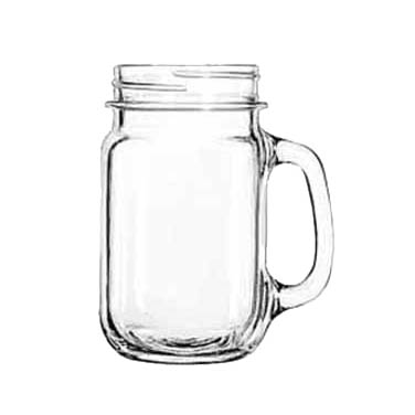Libbey- Drinking Jar, 16-1/2 oz., plain panels, glass, clear 12/Case (97084)