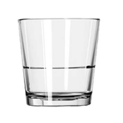 Libbey- Double Old Fashion Glass, 12 oz., stackable, glass, clear, DuraTuff®, 24/Case (15769)