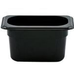 "Cambro - ABS 1/9 Size x 4"" Deep Food Pan (Black) 