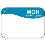 "DayMark - .8 x 1.3"" Dissolvable Label (Mon) 