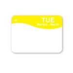 "DayMark - .8 x 1.3"" Dissolvable Label (Tue) 