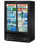 "True - 59"" Pass-Thru Glass Display Refrigerator (2 Sec)
