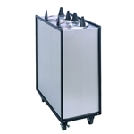"APW Wyott - Enclosed Adjustube Three Tube Unheated Mobile Dispenser (3-9"") 