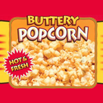 APW Wyott - W-4B Hot Buttery Popcorn Decal | Public Kitchen Supply