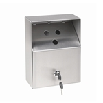 Crown Verity - Stainless Wall-Mount Butt-Out Ashtray (Small) | Public Kitchen Supply
