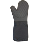 "Clipper - Silicone 17"" Black Oven Mitt 