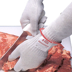 San Jamar - Medium D-Flex Cut Resistant Glove (Wht) | Public Kitchen Supply
