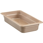 "Cambro - Half 1/2 Size Long x 2"" Deep High-Heat Food Pan Amber Hot 