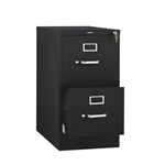 Hon - 2-Drawer Black Vertical File Cabinet | Public Kitchen Supply