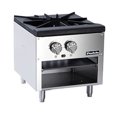 Padela- Low Stock Pot Stove, gas, (1) three-ring cast iron burner, (PCSP-18-1L)