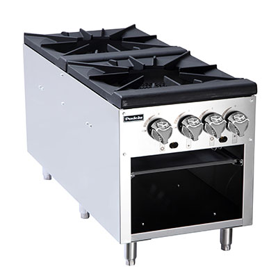 Padela- Stock Pot Stove, gas, (2) three-ring cast iron burners, (PCSP-18-2)