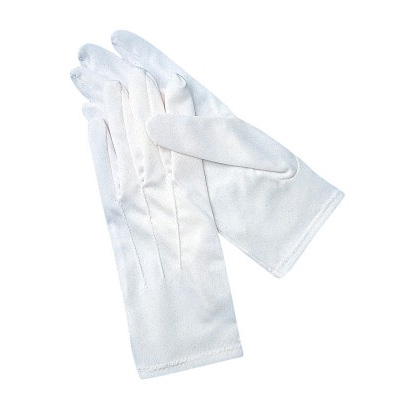 San Jamar - White Waiter's Gloves (Med) | Public Kitchen Supply