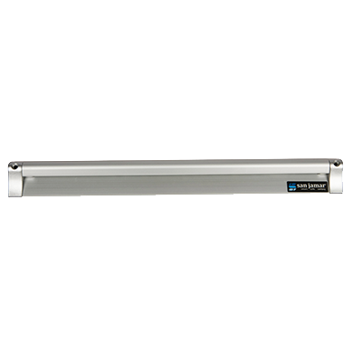 "San Jamar - 18"""" Aluminum Slide Check Rack 