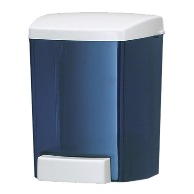 San Jamar - 30 oz Classic Soap Dispenser (Blue) | Public Kitchen Supply