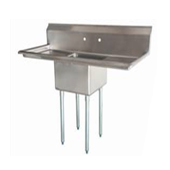 Iron Guard-Sink 2 Comp 18 X 18 X 14 with NO DB 304 Top Galv Legs| Public Kitchen Supply