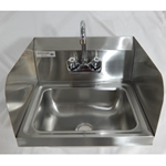 Iron Guard-Hand Sink 17.5 X 15 Wall Mount SS Sides with Faucet | Public Kitchen Supply