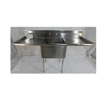 Iron Guard-Sink 2 Comp 18 X 18 X 14 with NO DB 304 Top Galv Legs | Public Kitchen Supply