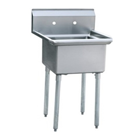 Iron Guard-Sink 1 Comp 24 X 24 X 14 with 304 Top Galv Legs (SKIC1T24241400) | Public Kitchen Supply