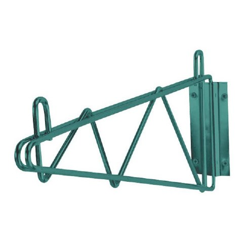 "Iron Guard-14"""" Green Epoxy Wall Mount Brackets - Set of 2