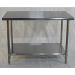 Iron Guard-Work Table All SS 30 X 30, 430 -16GA with 18GA Undershelf | Public Kitchen Supply