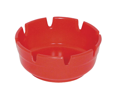 Update International - Red Plastic Ashtray | Public Kitchen Supply