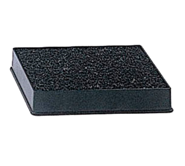 "Update International - 4 x 3"""" Black Drip Tray with Sponge 