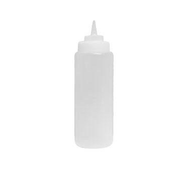 Update International - 16 oz Clear Squeeze Bottle | Public Kitchen Supply
