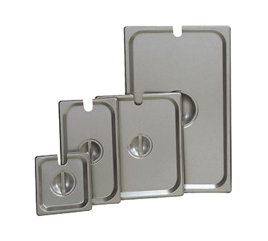 Update International - 1/3 Size Food Pan Cover w/Handle & Notch (SS) | Public Kitchen Supply