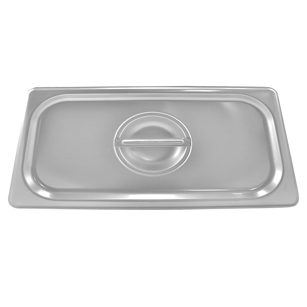 Browne - 1/3 Size Stainless Food Pan Cover with Handle | Public Kitchen Supply