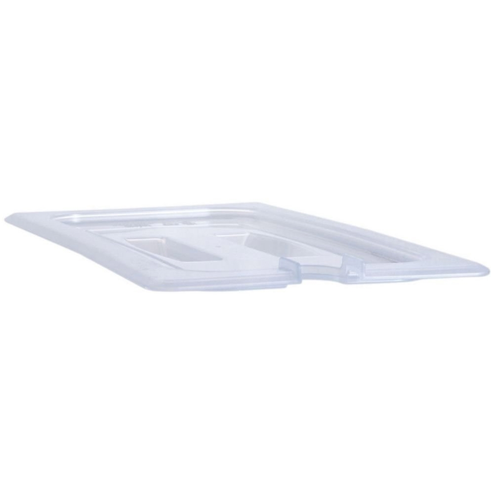 Cambro - 1/6 Size Notched Food Pan Cover (Clear) | Public Kitchen Supply