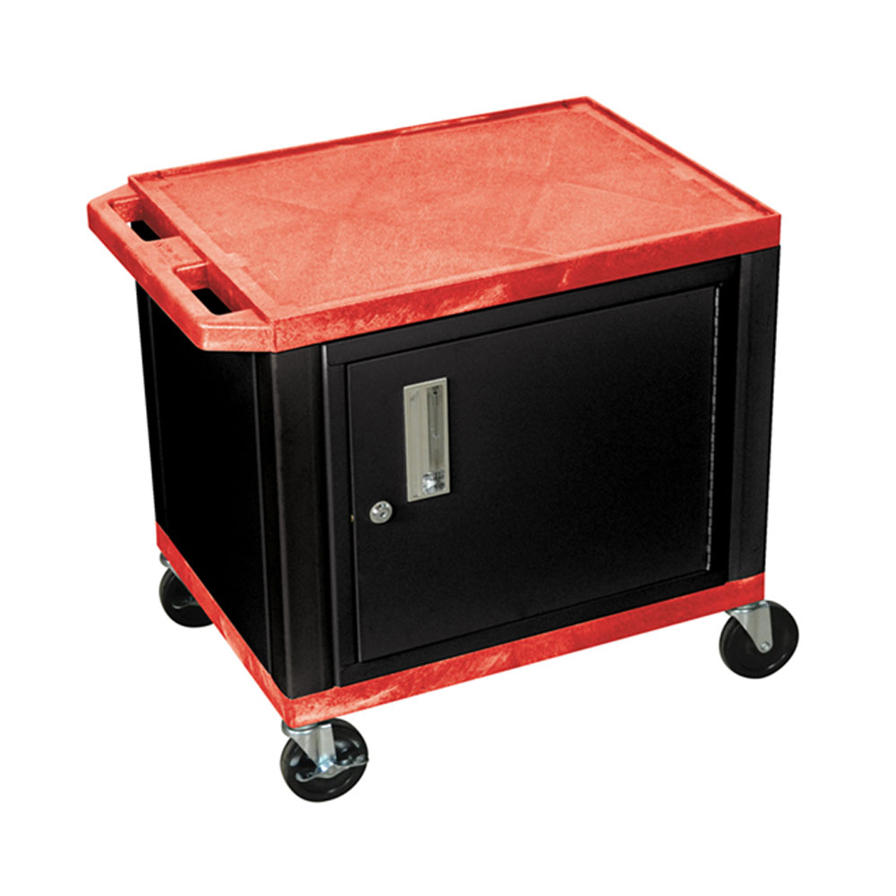 "H Wilson - 24.5"" Red Accent Black Cabinet Tuffy Presentation Station 