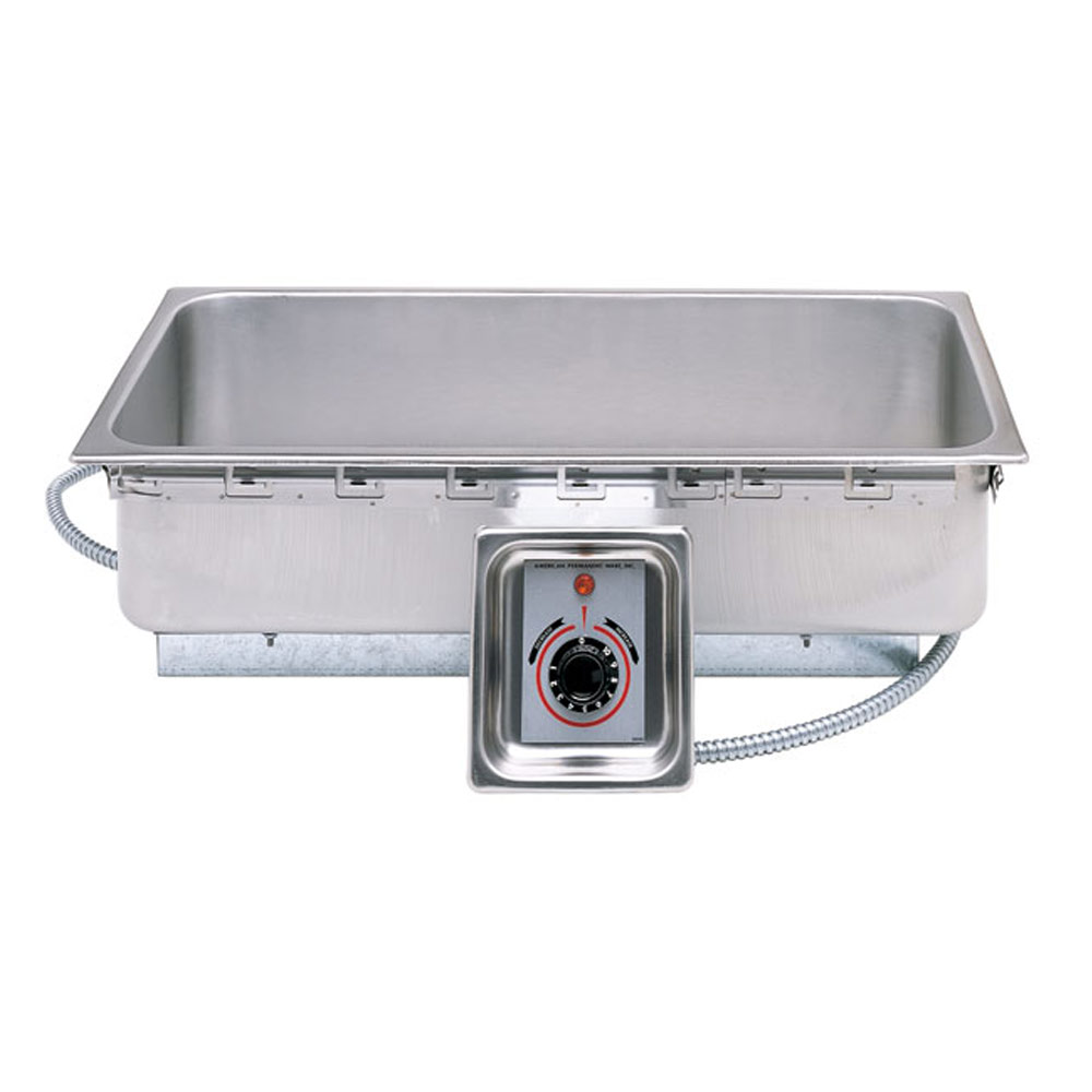 APW Wyott - 1/2 Size Top Mount Hot Food Well w/Drain (UL Listed) | Public Kitchen Supply