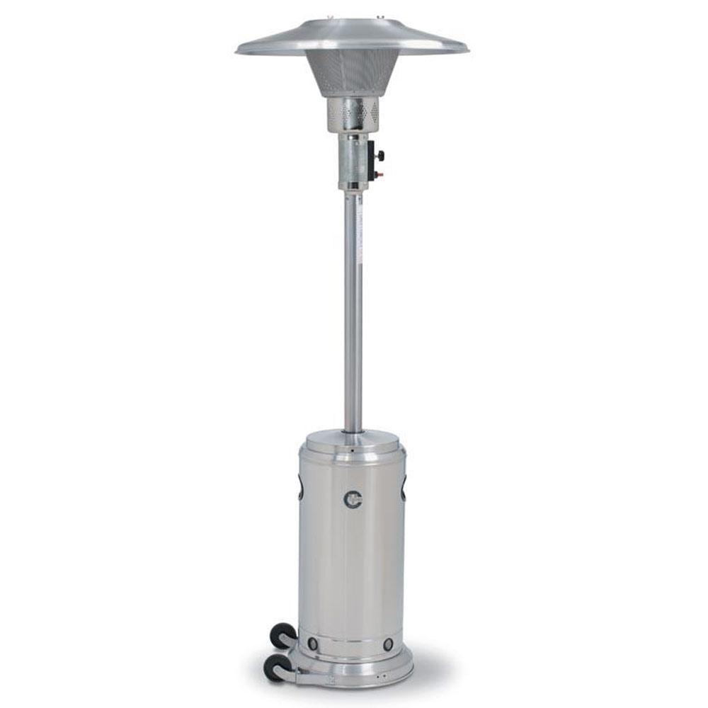 Crown Verity Portable Propane Patio Heater Stainless Steel Public Kitchen Supply