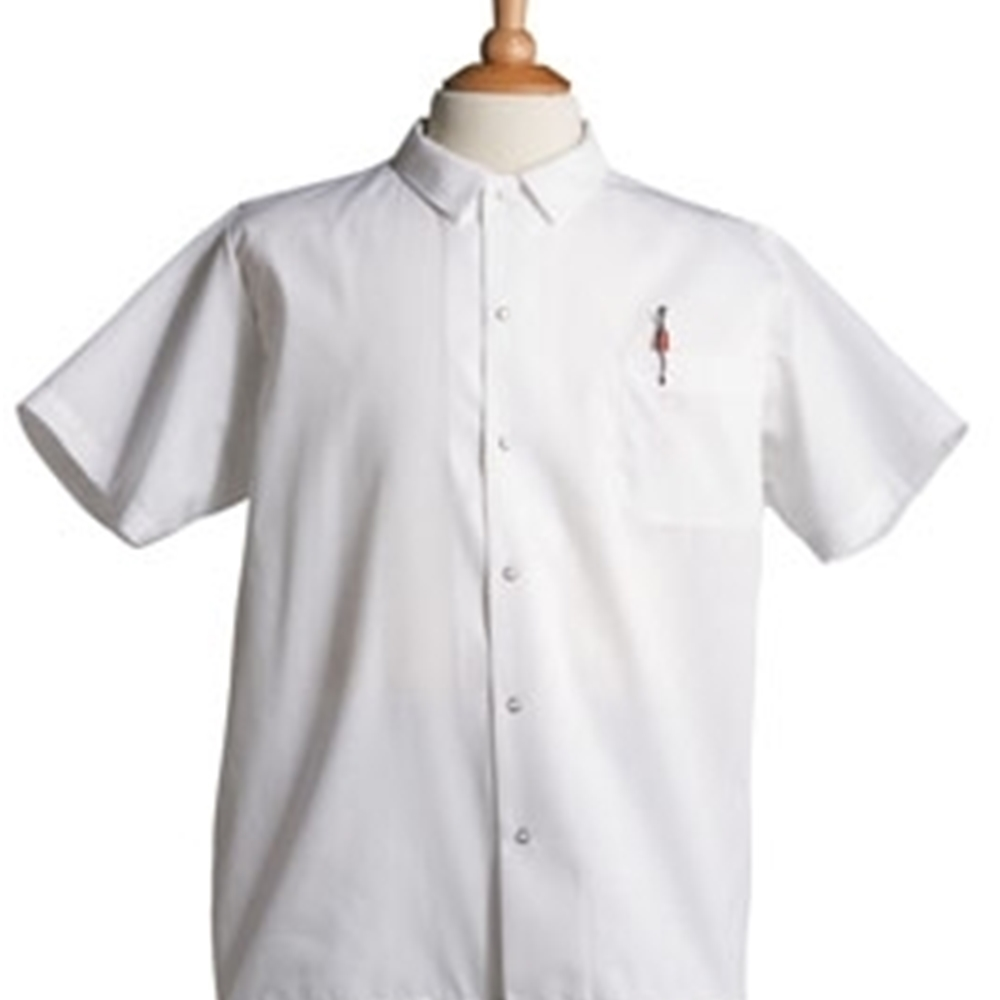 Iron Guard- White Snap Button Chef Shirt (S-XL)  | Public Kitchen Supply