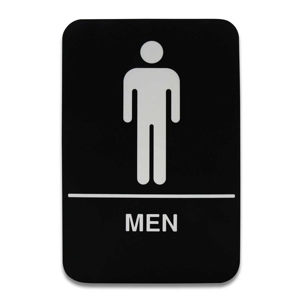 Co-Rect Products - 6 x 9 Men's Restroom Sign | Public Kitchen Supply